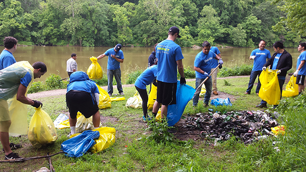 One of the Alice Ferguson Foundation's clean-up efforts at The Anacostia River.