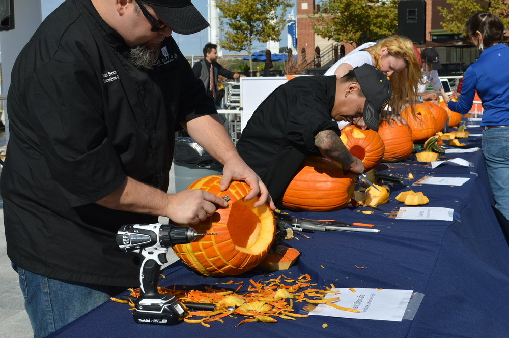 Pumpkin carving contest. Photo courtesy National Harbor