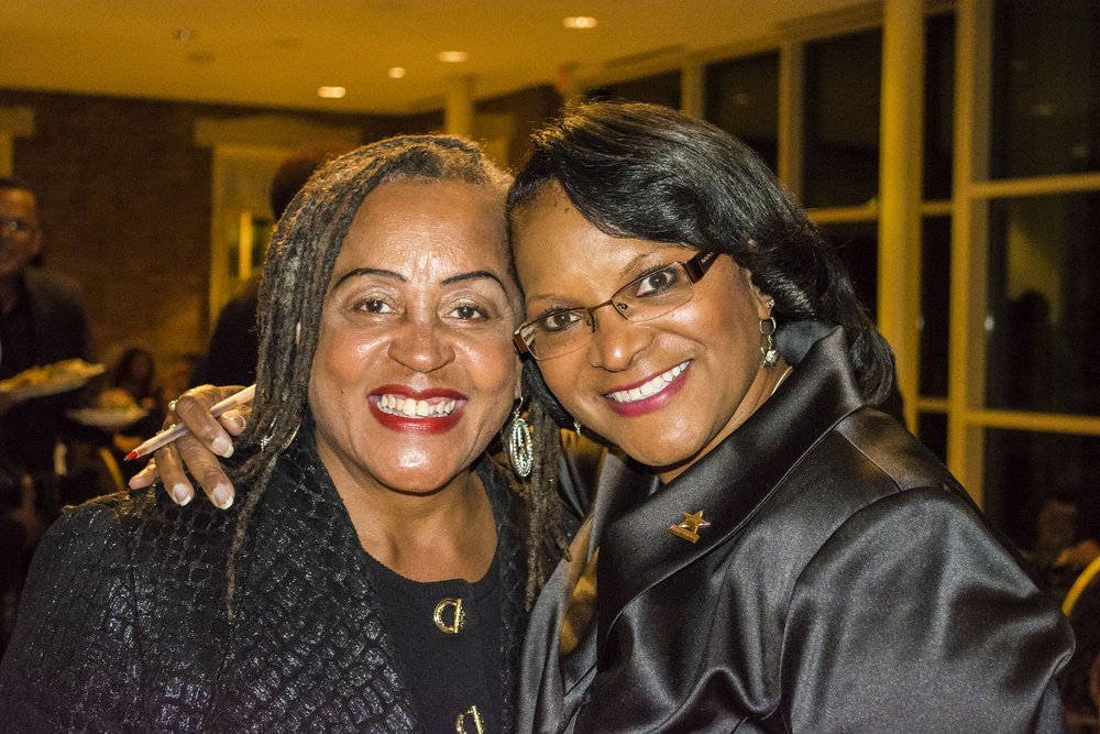 Kim Rhim and former Training Source student Dianne Peters // PHOTO: RAOUL DENNIS