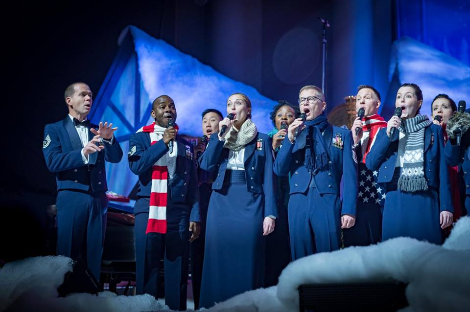 """2017 Holiday Matinee for Kids. The United States Air Force Band """"Singing Sergeants"""" Credit: Chief Master Sgt. Bob Kamholz, Facebook"""