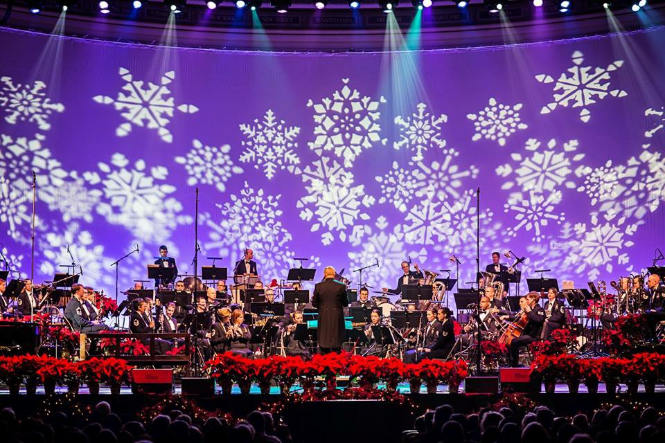 The Concert Band and Singing Sergeants perform a holiday classic during the 2014 Spirit of the Season performance at DAR Constitution Hall. (U.S. Air Force Photo by Senior Master Sgt. Kevin Burns/released)
