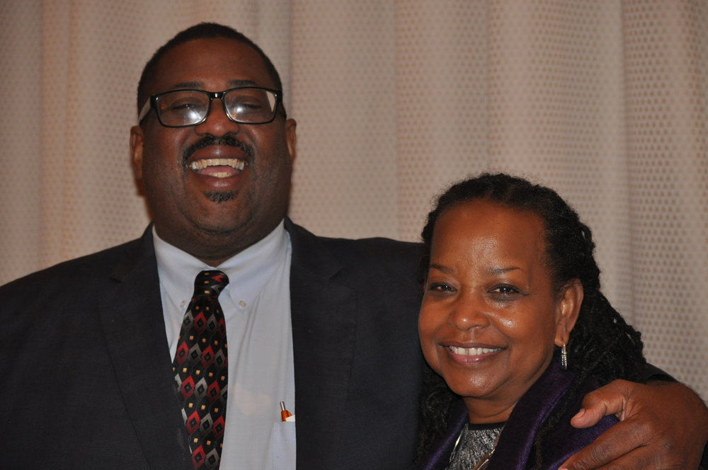 Journalist Hamil Harris and Washington Informer Publisher Denise Rolark Barnes. PHOTO: RAOUL DENNIS // PRINCE GEORGE'S SUITE MAGAZINE & MEDIA