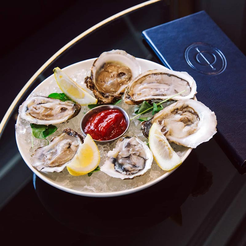 Oysters at Opaline Bar and Brasserie