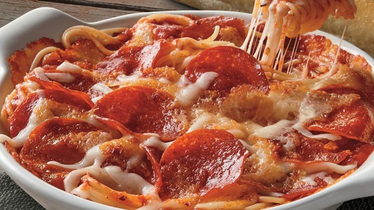 Fazoli's Pizza Baked Spaghetti