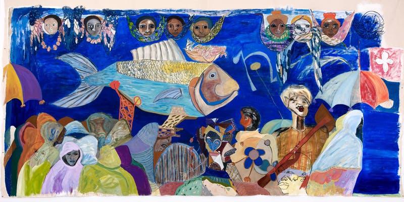 Ficre Ghebreyesus, The Sardine Fisherman's Funeral , courtesy of Elizabeth Alexander.
