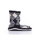 Chalet Ankle Sock Black & White Plaid