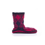Chalet Ankle Sock Red Plaid