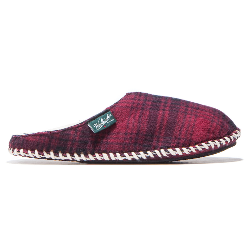 Fleece Mill Scuff Red Hunting Plaid