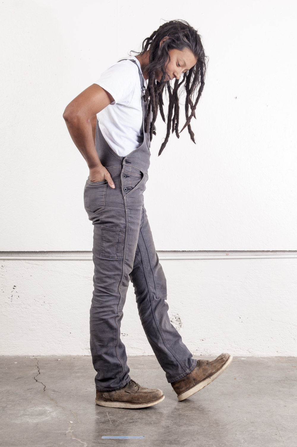 Freshley Overall - Dk Gray Canvas