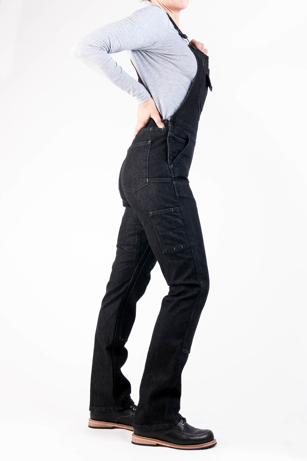 Freshley Overall Black Denim