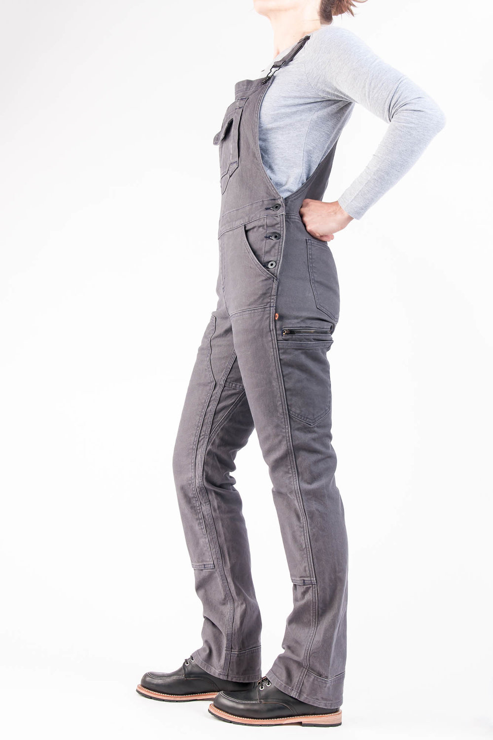 Freshley Overall Grey Canvas