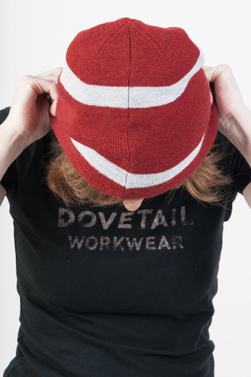 Reversible Work Beanie Red