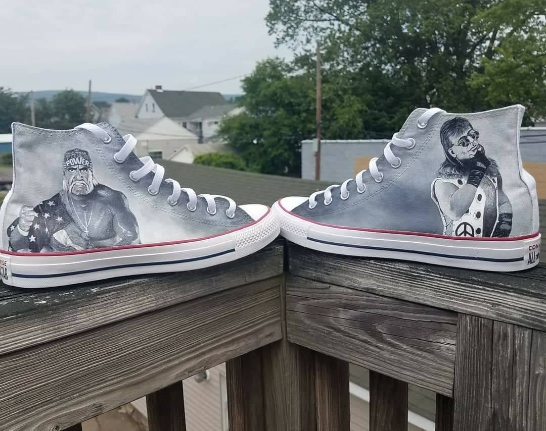 7c5068c5e5 Personalized Hand Painted Converse Canvas High Tops. wwe shoes.jpg