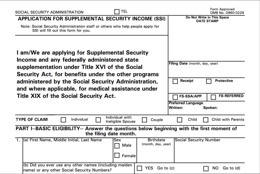 Supplementary Security Income (SSI) Form.png