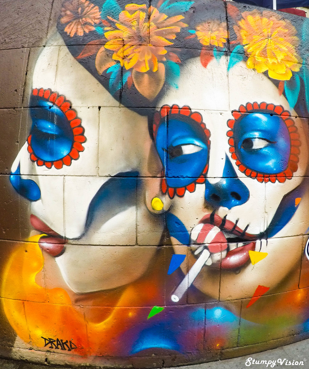 I am a big fan of the vibrant street art that often litters the streets throughout Mexico.
