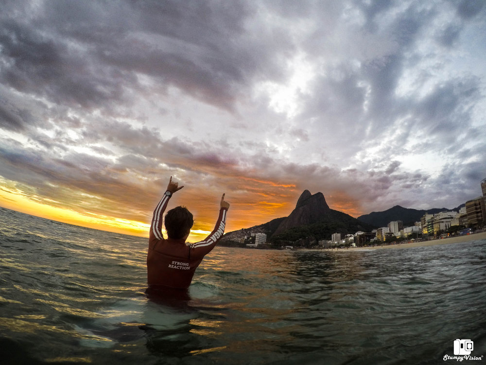 Rio, sunsets to die for.