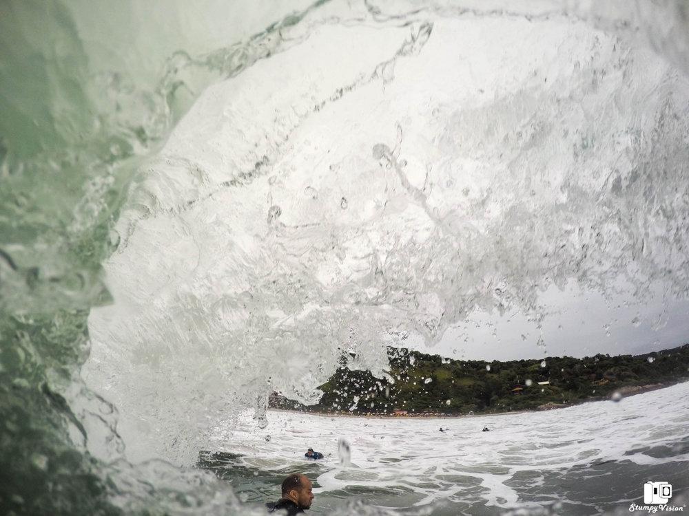 Gabriel pulling in on a slab.