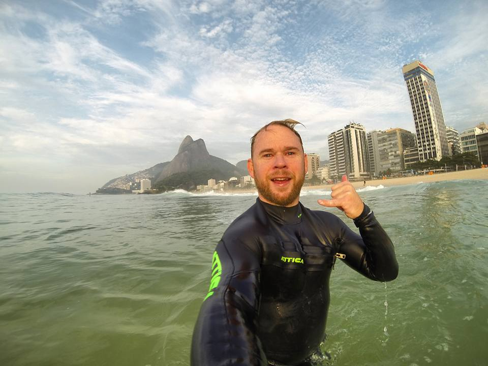 Living the dream in Rio.