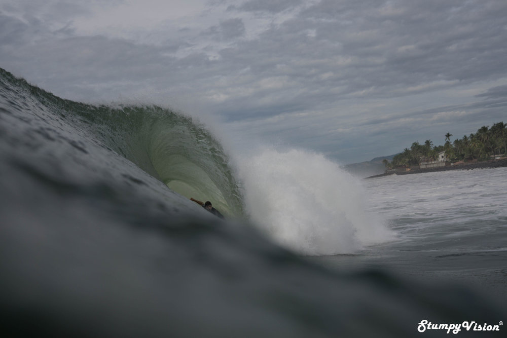 Love this shot with the barrel almost doubling in size from start to finish.