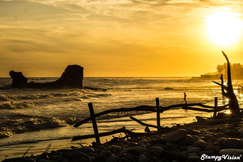 A cliche sunset in El Tunco.