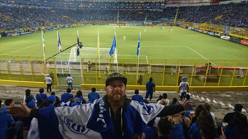 I was told that if I did not wear an El Salvador shirt inside the stadium that I would most likely get punched in the face. Best sales pitch I have ever heard.