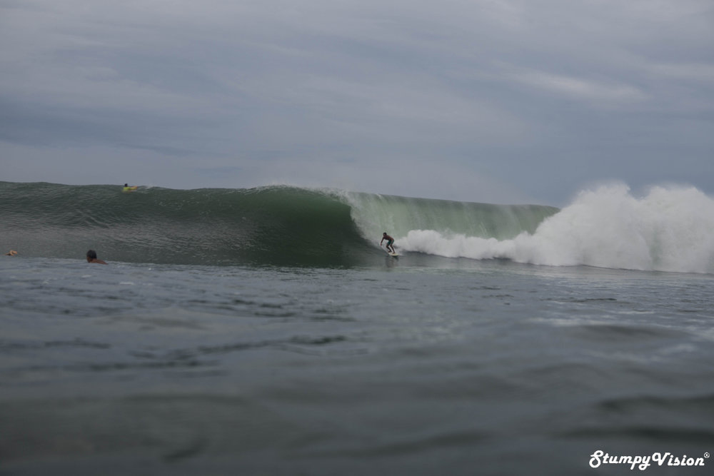 Ok, so Bamba would kill me if I didn't run a decent shot of him surfing. Captured moments before getting pitted.