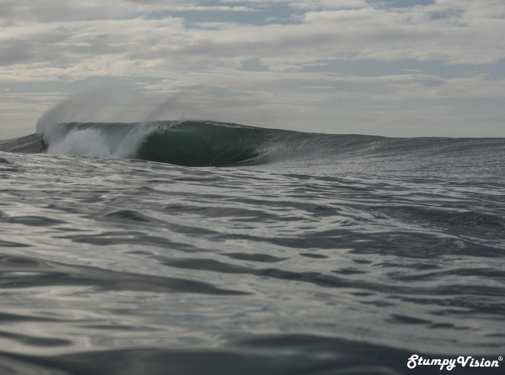 Waves like this went completely unridden all day.