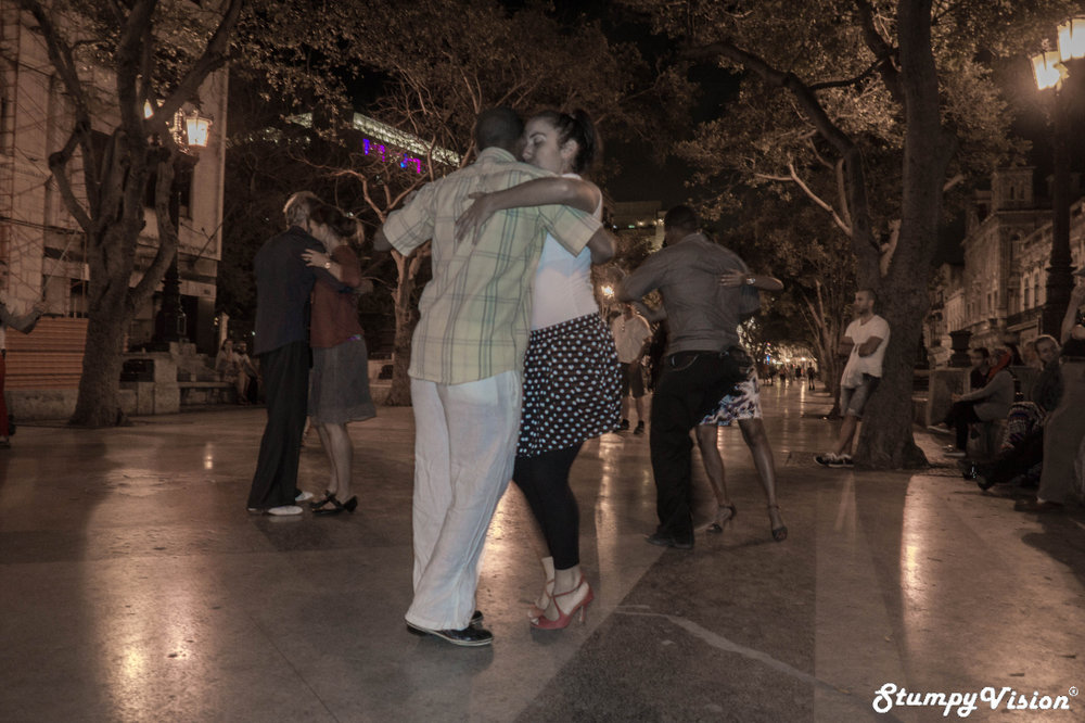 Literally dancing in the street of Habana.