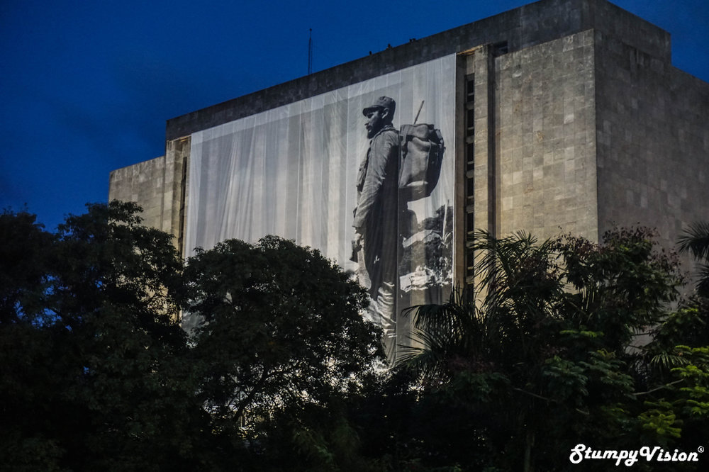 A figure larger than life, farewell Fidel.