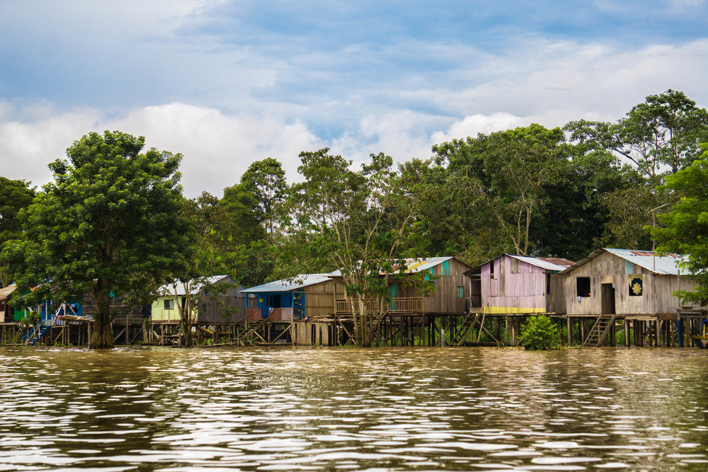 Letician riverside shanty towns.
