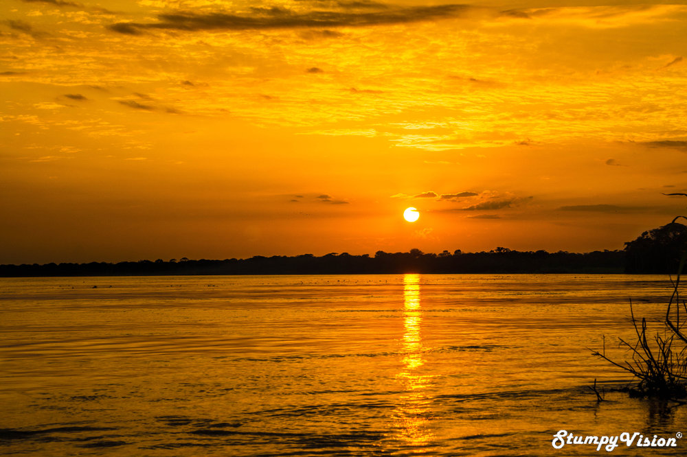 An unbelievable sunset on the Amazon. Moments like this will never be forgotten.
