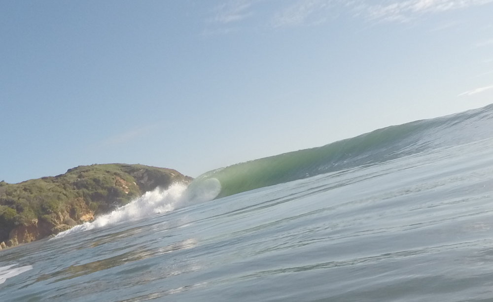 The old boy wasn't lying when he said the waves would be on the pump.