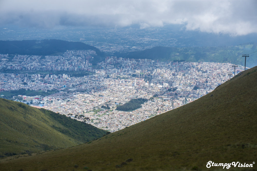 Sprawling Quito from above.