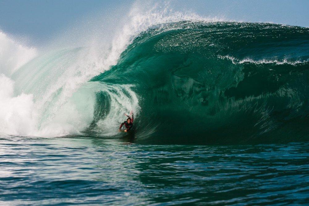 Australian  Michael Novy  charging hard a few years back. Photo by legendary New Zealand photographer  Chris Garden .
