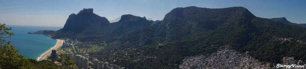 Less than five minutes walk from Rocinha is some of the most expensive real estate in Rio.