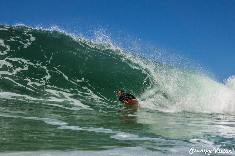 Bodyboarding always brings a smile to your face.