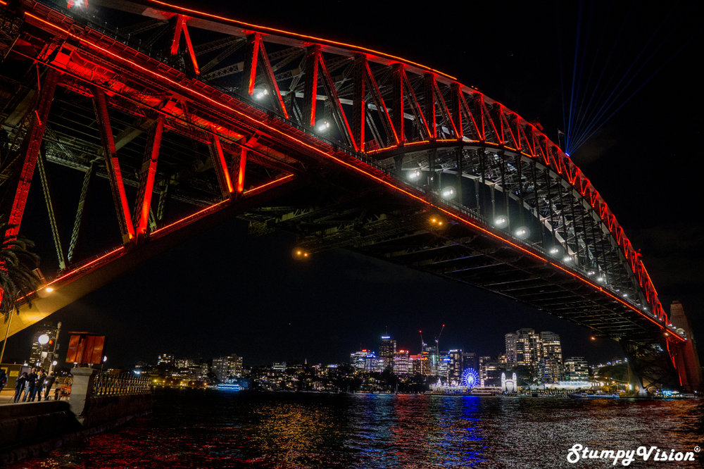 The Sydney Harbour Bridge, also affectionately known as the 'Coathanger', was opened on March 19th 1932 by Premier Jack Lang, after six years of construction. Made of steel the bridge contains 6 million hand driven rivets. The surface area that requires painting is equal to about the surface area of 60 sports fields.