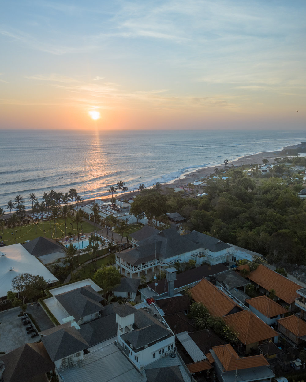 Canggu from above, photo courtesy of Simon Neate, Instagram:  simontology_nz