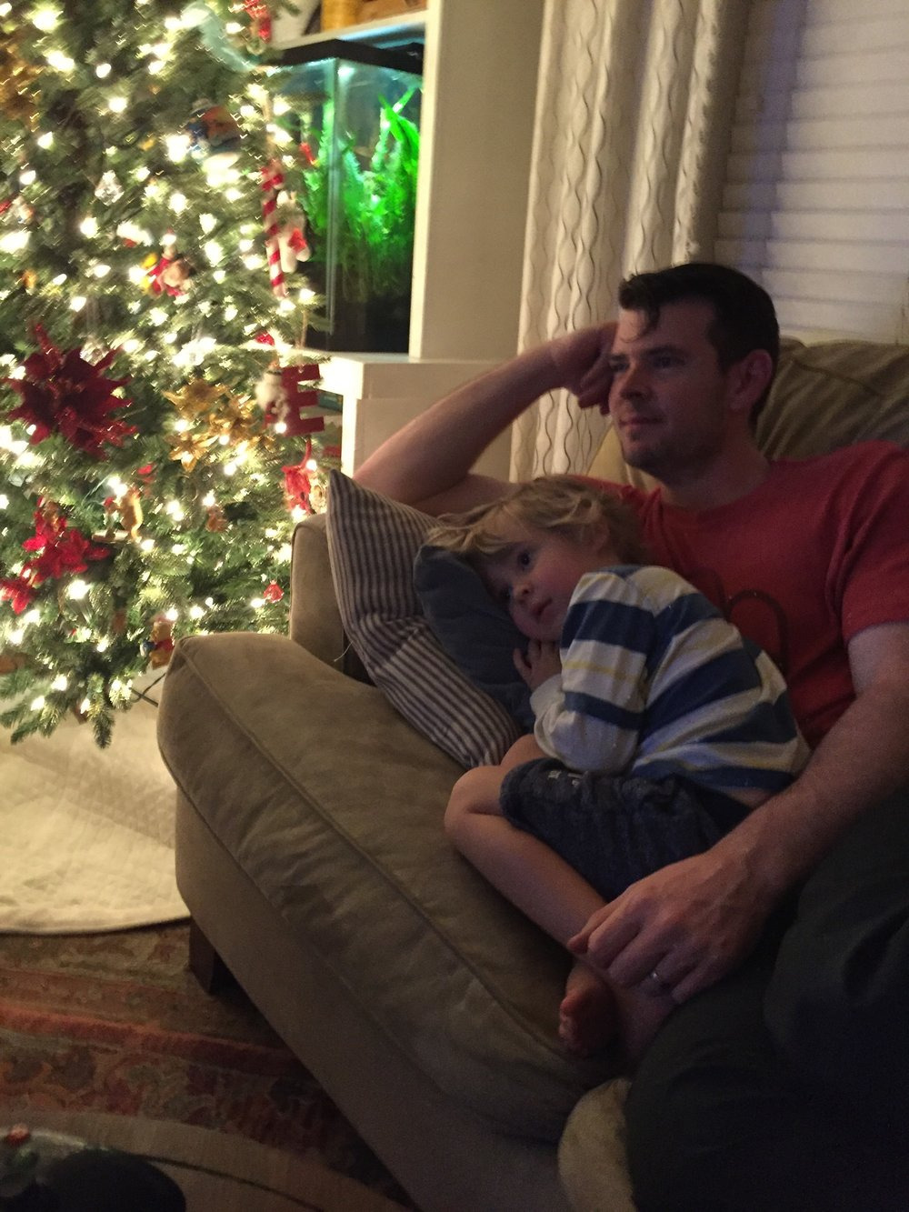 Watching a Christmas movie!