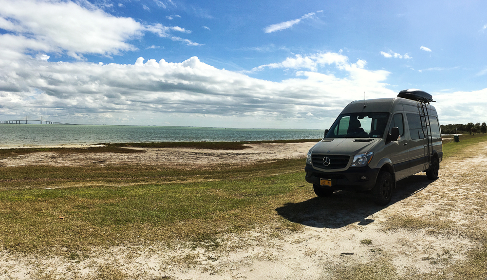 Clearwater Florida. After being cooped up inside the van in freezing temps, warm air and the ocean felt surreal.