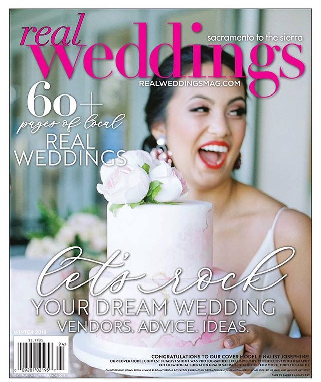 Yay for the Winter/Spring 2019 digital cover!  All the love for the @realweddingsmag team - it was so lovely to work with you all! 😘😘😘 Gorgeous model: Josephine! Publication: Real Weddings Magazine Winter/Spring 2019 Photographer: The always fun @typentecost  Swoon-worthy Dress: @aebridal  Venue: @sheratongrandsacramento  HMUA: @alldolledup_norcal  Cake: Baker & A Black Cat!!!! #bakerandablackcat #realweddingsmag #sacramento #realweddingsmagazine #typentecostphotography #alwayselegantbridal #sheratongrandsacramento #alldolledup #covermodelwinner #realbride #realweddingsacramento #cakesofinstagram #sugarpaste #handpaintedcake #watercolorcake