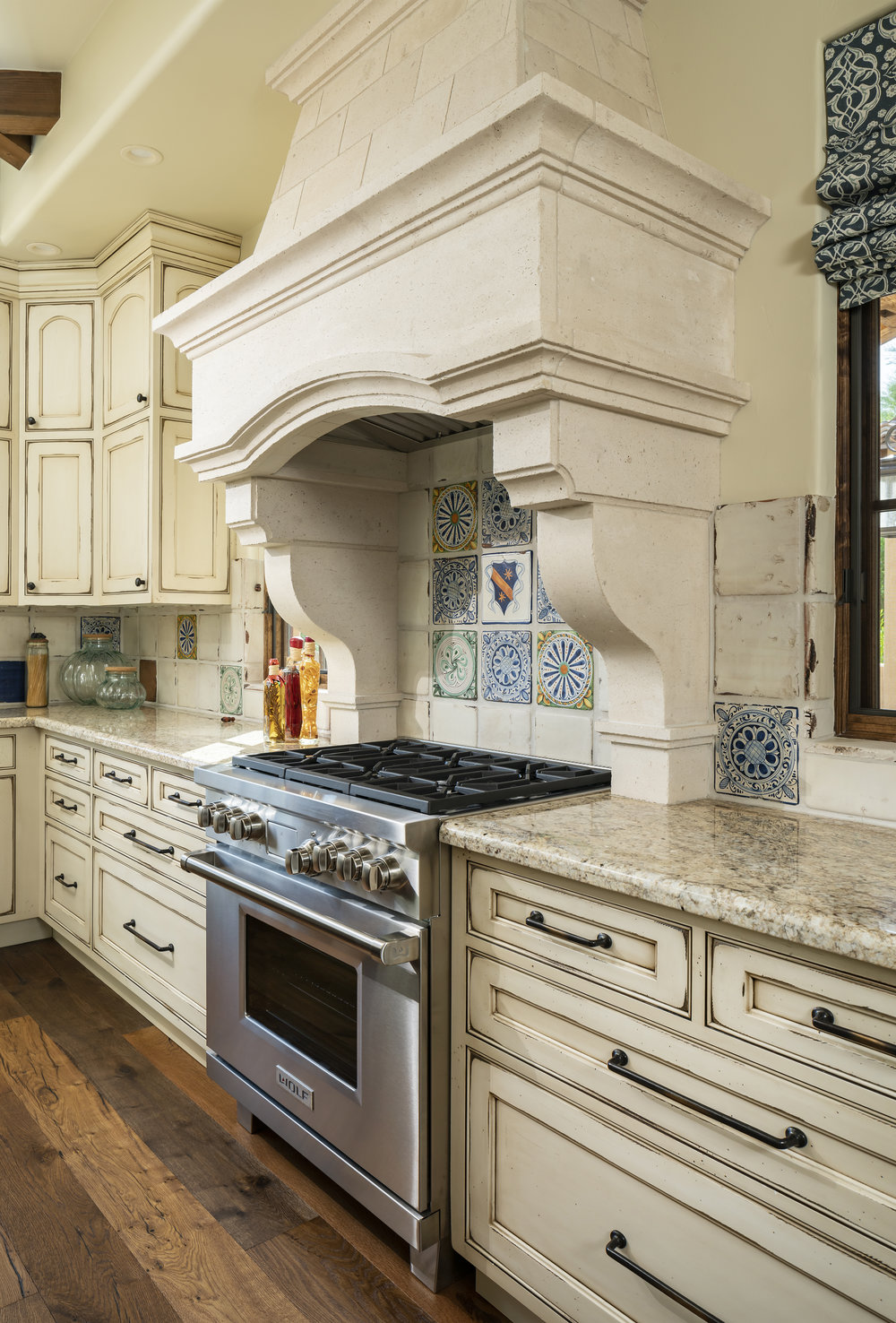 Granite Counterops - see pictures of this kitchen  HERE