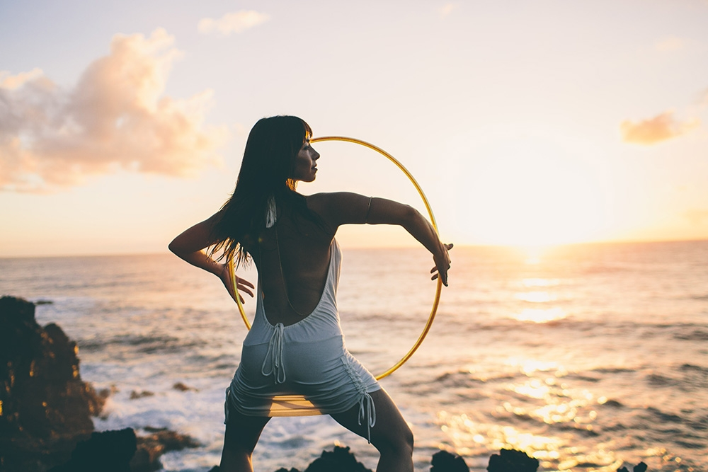 Sweet Caroline sunset hoop dance hawaii, in depth