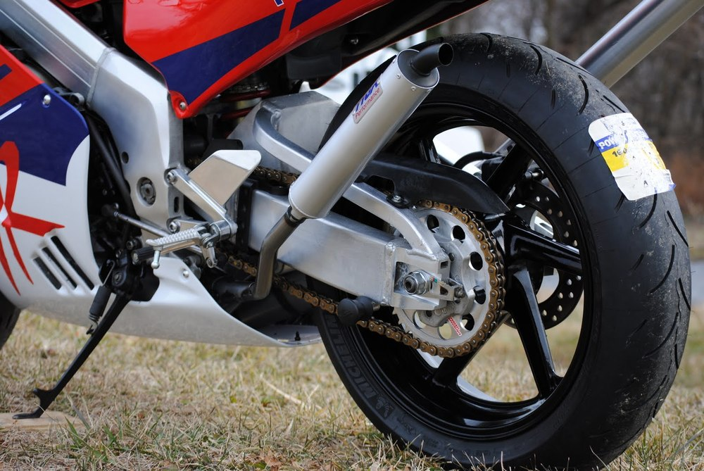 NSR250 Red Rear Wheel.JPG