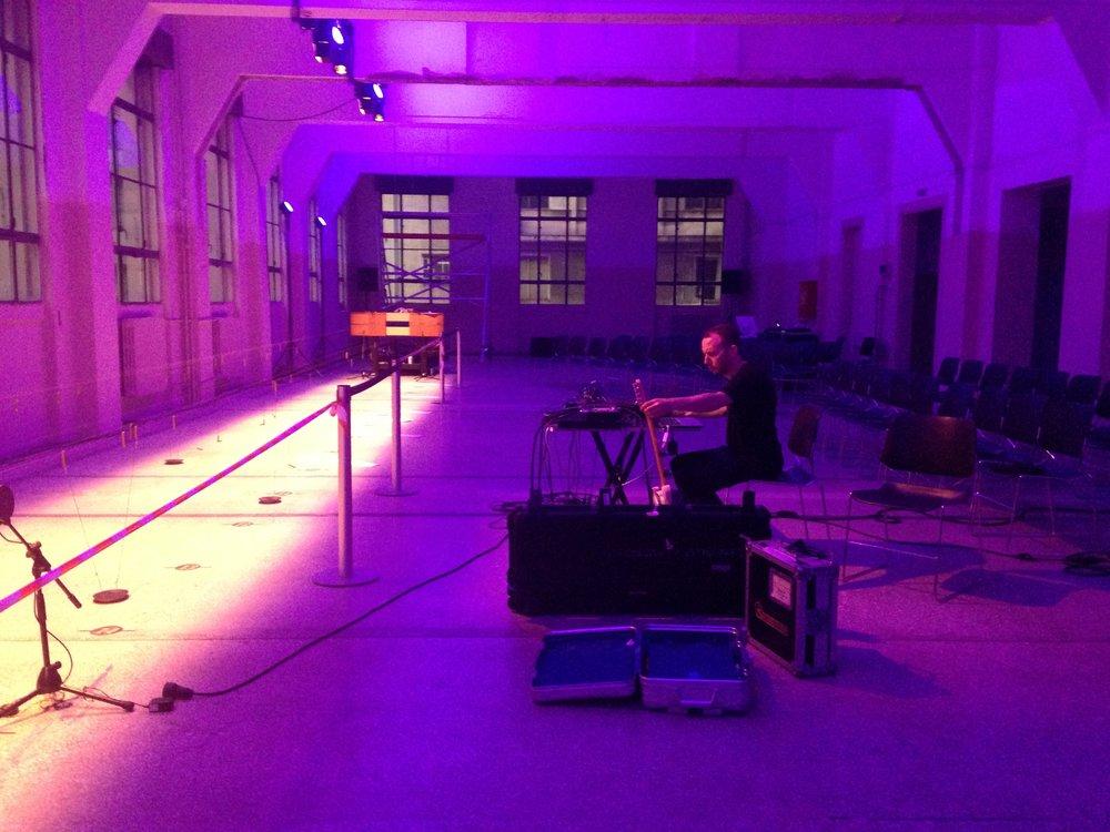 Konrad Sprenger, soundcheck, Techtonics Athens, 2017