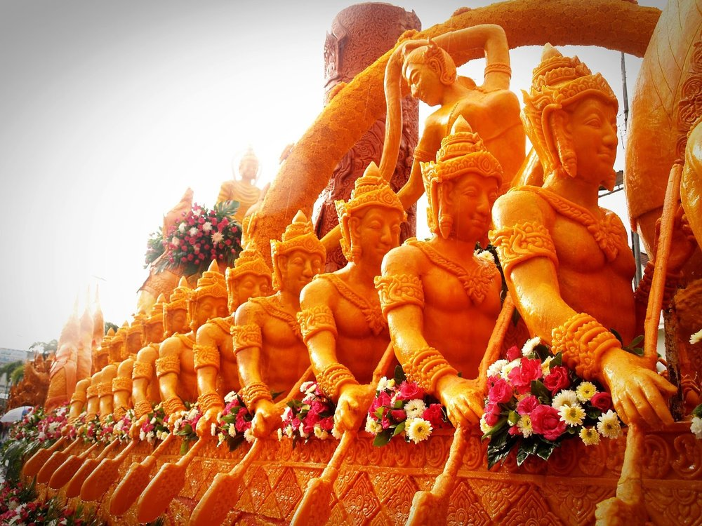 Ubon Ratchathani orange candle festival parade