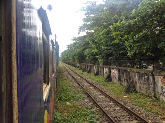 circle line train in Yangon Myanmar