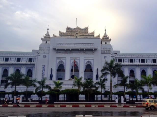 Yangon old town city  hall