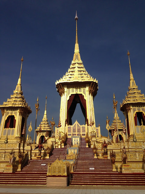 the royal crematorium pavilion of HM King Rama IX of Thailand
