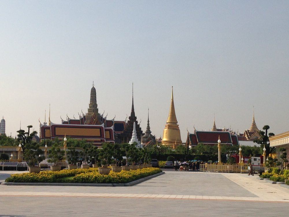 Bangkok's grand palace from Sanam Luang